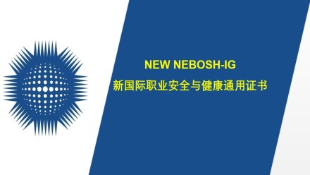 Second Course of New NEBOSH-IG