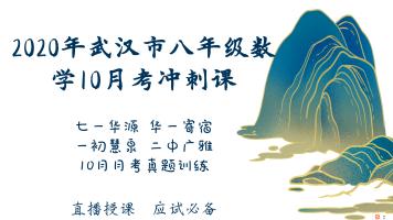 2020年武汉市八年级数学10月月考冲刺课
