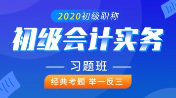 初级会计实务2020年|初级会计职称|初级会计考试习题班课程
