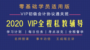 2020年初级会计师2科目协议通关【VIP全程私教辅导每日计划任务】