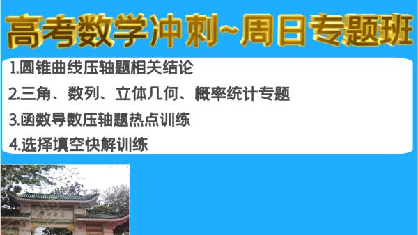 2021海南高考高三数学冲刺~周日专题班