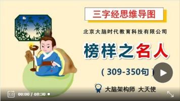 三字经思维导图系列课程14-榜样之名人(309-350句)