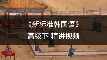 新标准韩国语高级下视频课程【小鹿老师授课】