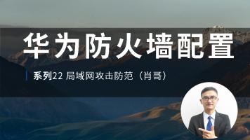 华为认证防火墙配置零基础视频教程系列22局域网攻击防范(肖哥)