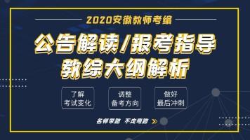 2020安徽教师统考-公告解读|报考指导|教综大纲解析【师出教育】