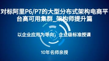 对标阿里P6/P7的大型分布式架构电商平台高可用集群_架构师提升篇
