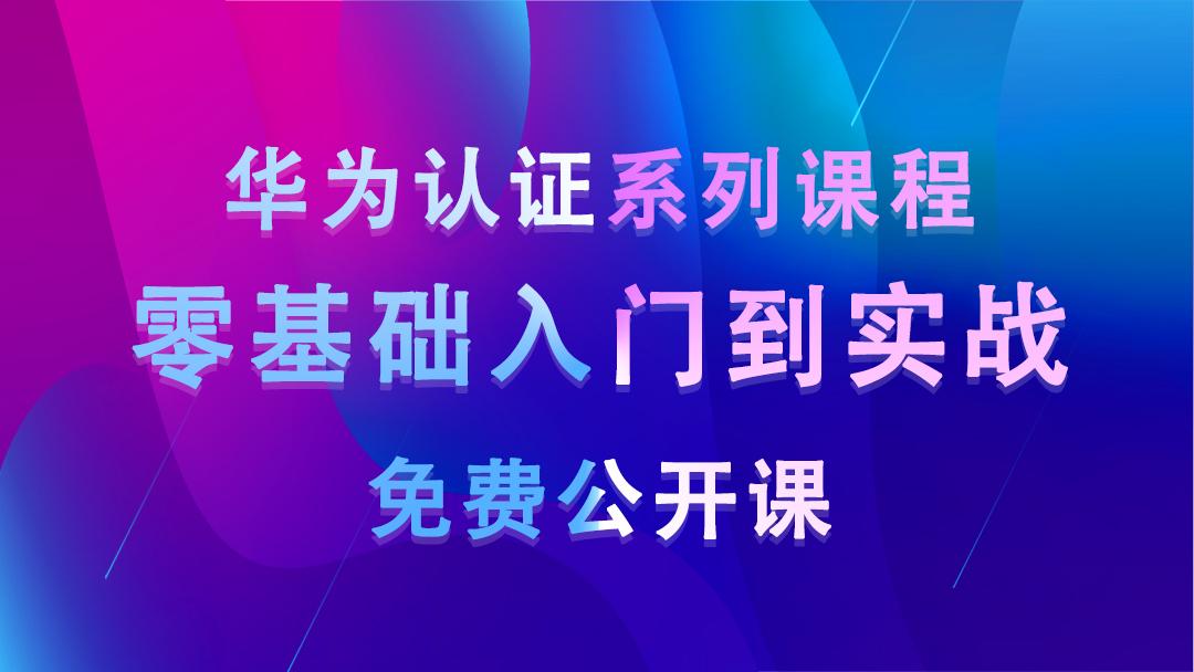 零基础入门到实战网络工程师-华为数通HCIA/HCIP/HCIE