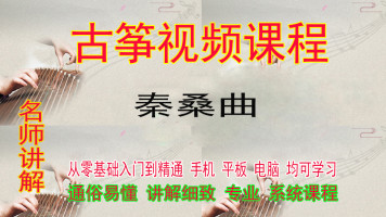 秦桑曲古筝视频教学教程零基础入门一对一在线网络课程