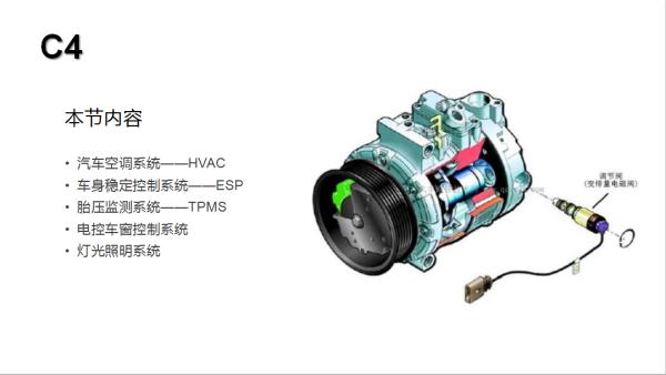 C4级—空调系统、ESP系统、电动车窗控制系统、灯光控制系统