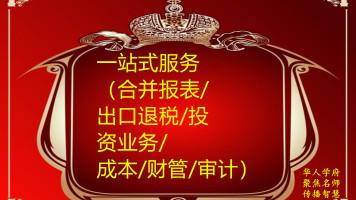 D008+一站式服务(合并报表/出口退税/投资业务/成本/财管/审计)