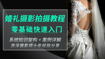 婚礼摄影拍摄跟拍系统教程小白零基础快速入门