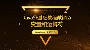 JavaSE基础视频精讲②:变量和运算符