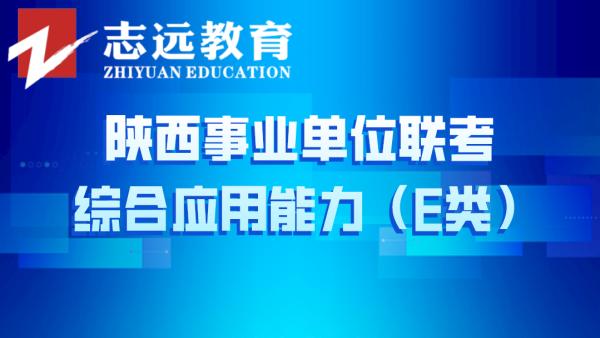综合应用能力(E类)——陕西事业单位联考