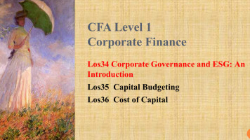 CFA Level 1 Corporate finance