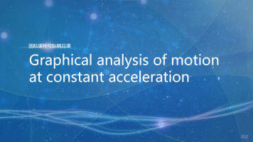 Graphical analysis of motion at constant acceleration