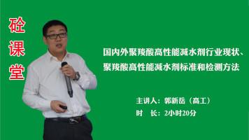 郭新岳——国内外聚羧酸高性能减水剂行业现状、标准和检测方法