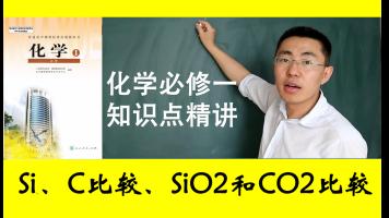高中高一化学必修一第四章:Si、C比较、SiO2和CO2比较