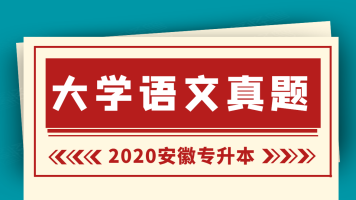 2020安徽专升本大学语文真题试卷解析