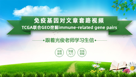 免疫基因对文章套路(TCGA联合GEO挖掘immune-related gene pairs)
