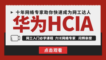 【6IE闫辉】 HCIA/HCIP/HCIE网络工程师实战篇/思科认证 华为认证