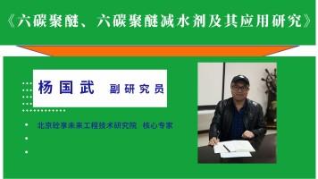 杨国武——六碳聚醚、六碳聚醚减水剂及其应用研究