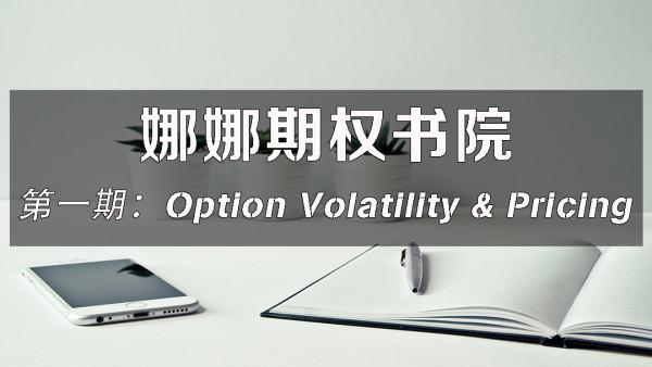 娜娜期权书院第一期:Option Volatility and Pricing