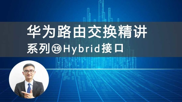 华为HCNP/HCIP路由交换精讲系列⑲Hybrid接口 [肖哥]视频课程