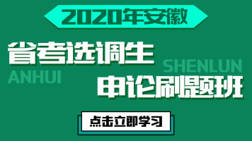 2020安徽省考/选调生申论刷题班