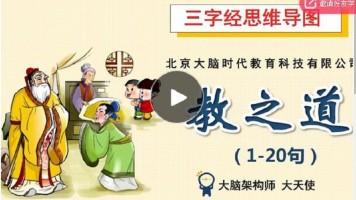 三字经思维导图系列课程2-教之道(1-20句)