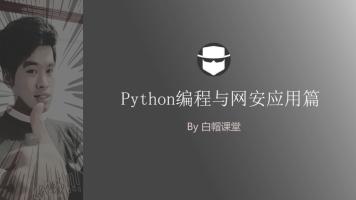 白帽子黑客编程技巧:Python编程掌握与网络安全应用