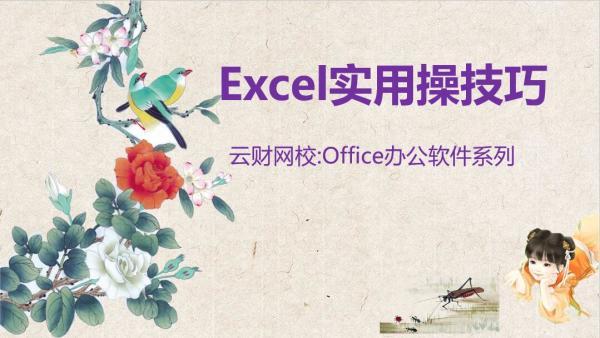 【云财网校】Excel实用操作技巧在工作中的运用