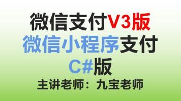 微信支付V3版微信小程序支付C#版