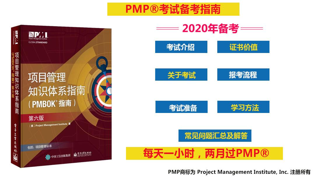 2020年12月PMP®考试最新第六版免费视频精讲课程