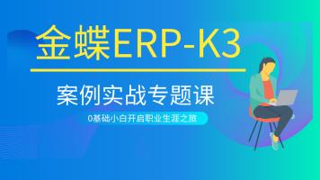 金蝶ERP-K3案例实战专题课/系统化录制/会计/实施工程师必学课程