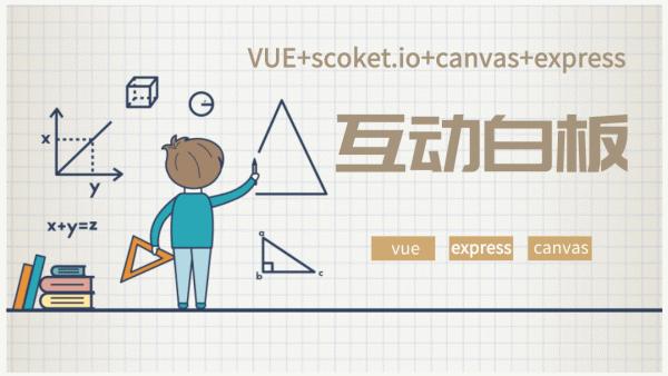 基于vue+canvas+scoketio+express实现互动白板画板即时通讯