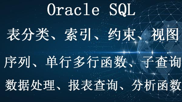 Oracle SQL基础+高级视频教程