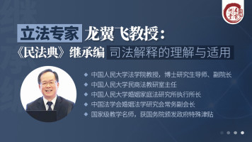 龙翼飞教授:《民法典》继承编司法解释的理解与适用