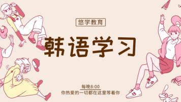 韩语零基础快速入门韩语中级/高级/TOPIK考试/韩国留学