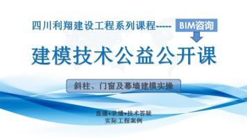 BIM咨询系列基础课程_斜柱、门窗及幕墙建模实操