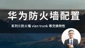 华为认证防火墙配置视频教程系列⑫防火墙 vlan trunk 等交换特性