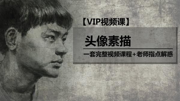 【VIP视频课】:素描高级-头像素描