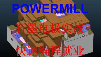 powermill石墨电极编程 工厂实战案例视频 录播课