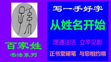 孙-百家姓书法系列之正书堂书法之硬笔书法、写字视频教程