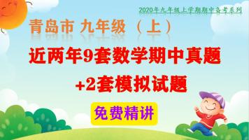 【备战期中】近2年青岛市九年级(上)9套期中数学真题视频讲解