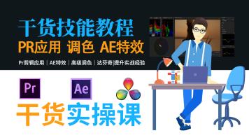 Pr/AE/达芬奇干货案列实践技能课|自媒体|短视频|剪辑|特效|后期