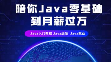 陪你Java零基础到月薪过万(java入门教程 java进阶  Java就业)