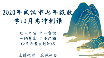 2020年武汉市七年级数学第一次月考冲刺课