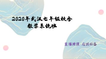 2021年武汉七年级秋季数学系统班