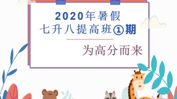 2020年暑假七升八提高班①期