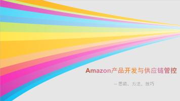 Amazon亚马逊产品开发和供应链管控